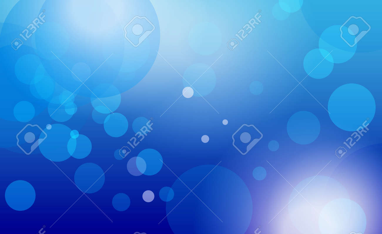 Abstract Blue Background with circles on a blue gradient Stock Vector - 15092486