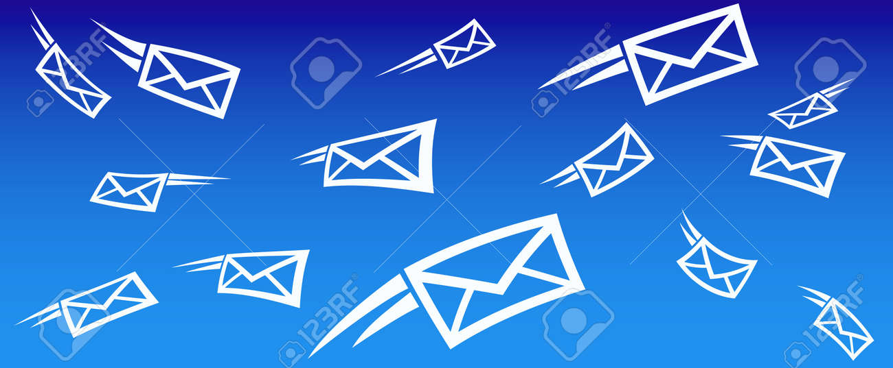Email Background Concept With Flying Mail Royalty Free Cliparts ...