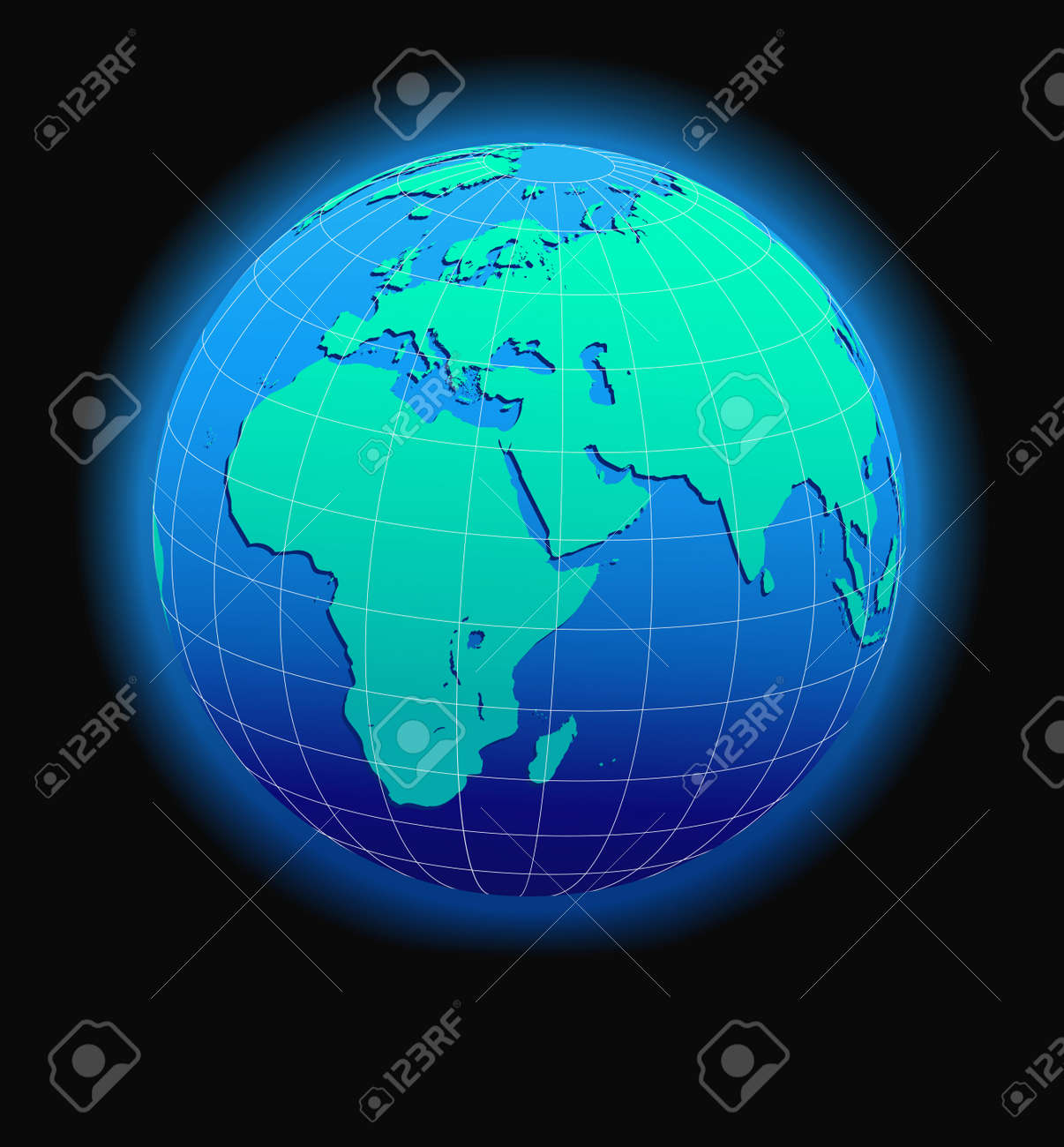 Map Of Africa From Space.Africa Arabia And India Global World In Space Map Icon Of
