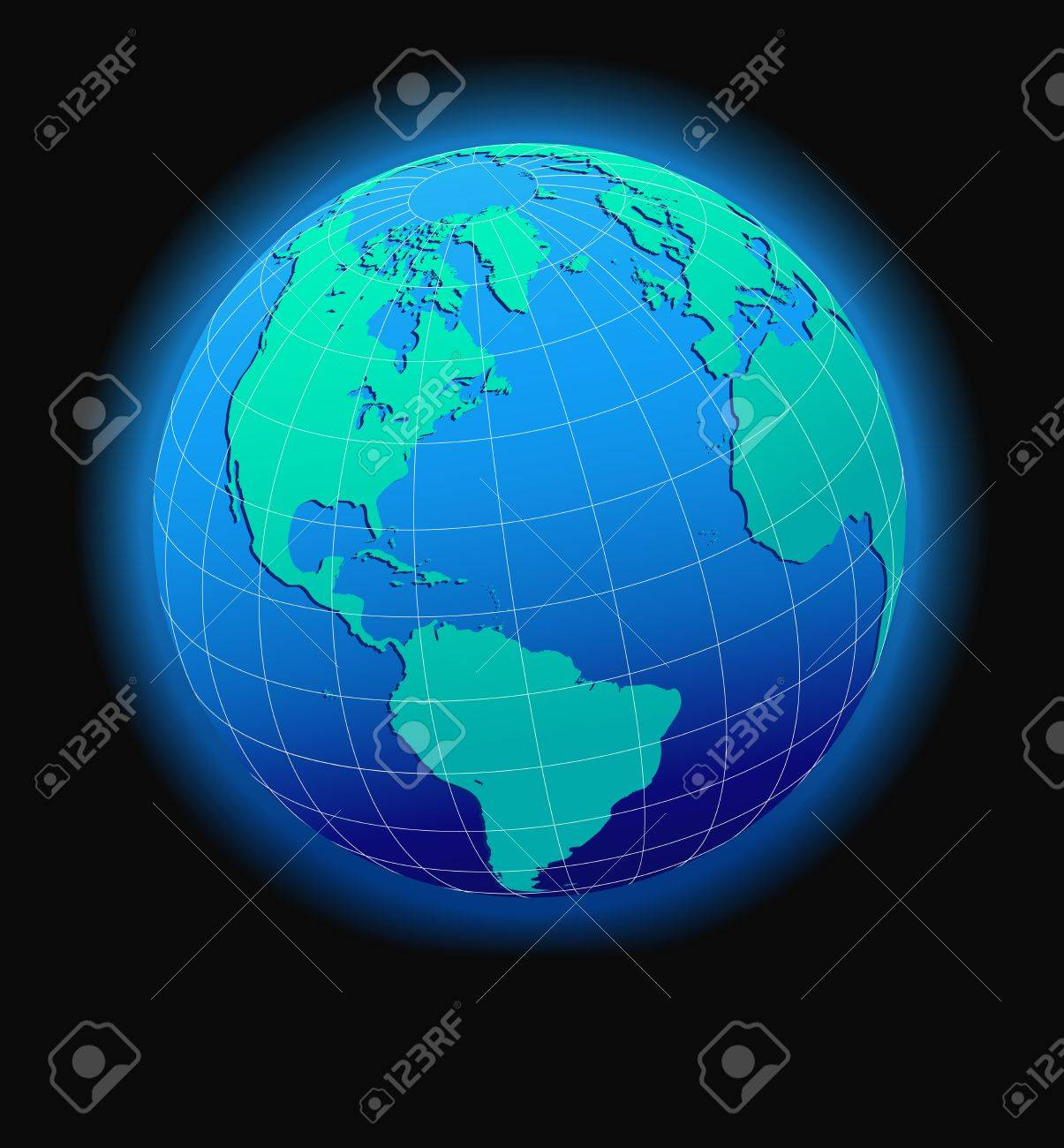 Australia Global Map.Asia And Australia Global World In Space Map Icon Of The World