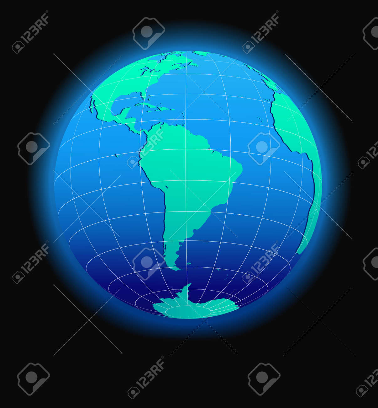 South America Global World In Space - Map Icon Of The World In ...