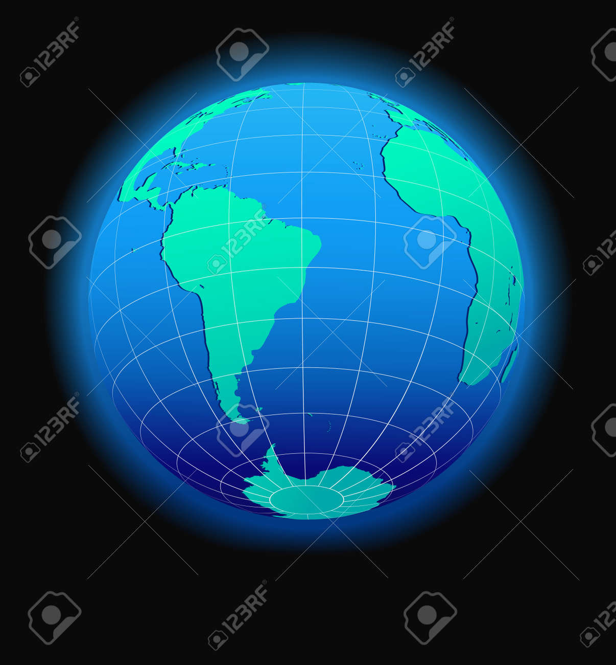 South America And Africa Global World In Space - Map Icon Of ...