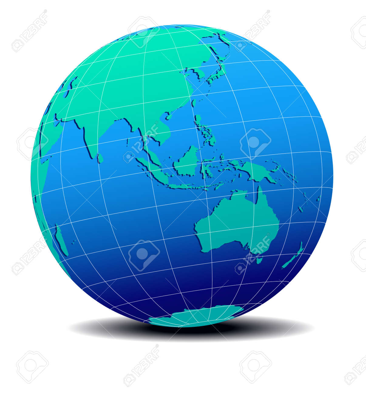 Australia In World Map.Asia And Australia Global World Map