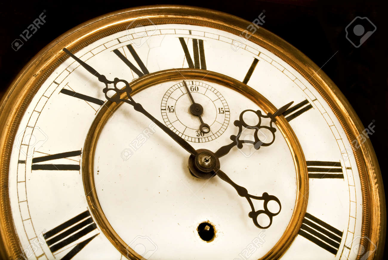 Antique Clock - Old clock face with roman numerals Stock Photo - 18873488