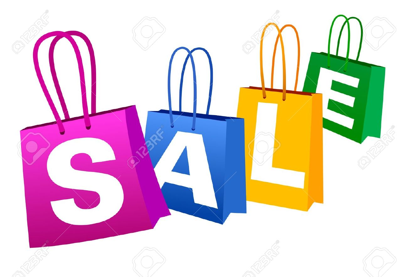SALE Banner With Shopping Bags Royalty Free Cliparts, Vectors, And ...