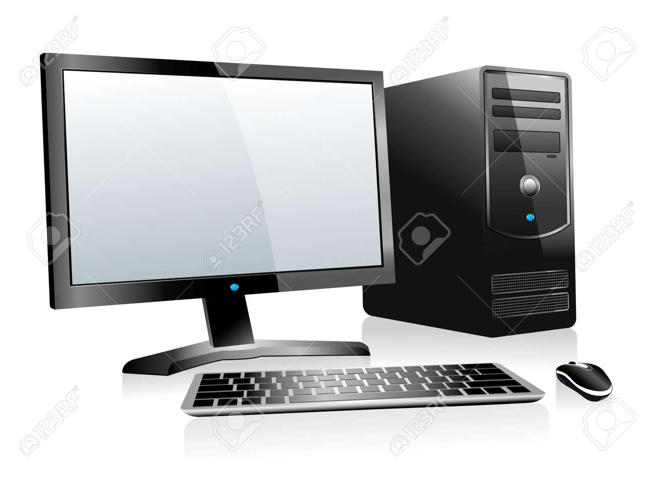3D Computer with Monitor Keyboard and Mouse - 27163726