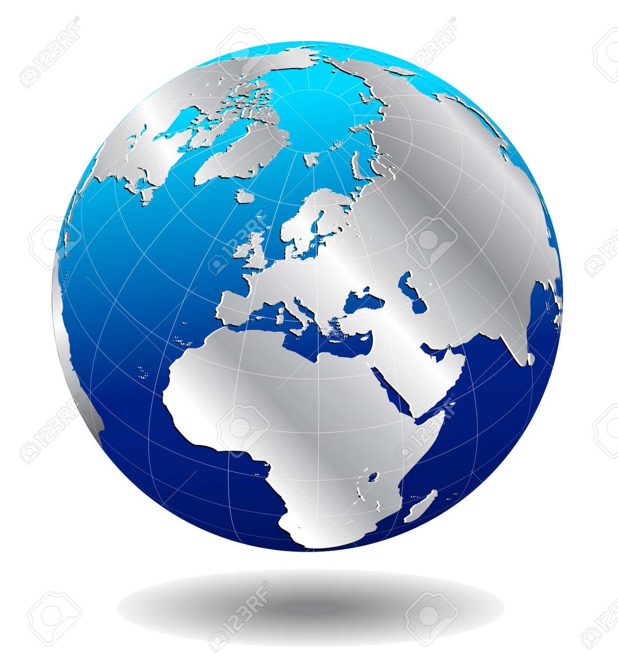 Europe Silver Global World - 27566346