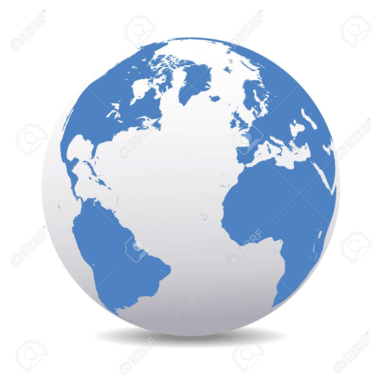 Europe, North, South America, Africa Global World - 33238194