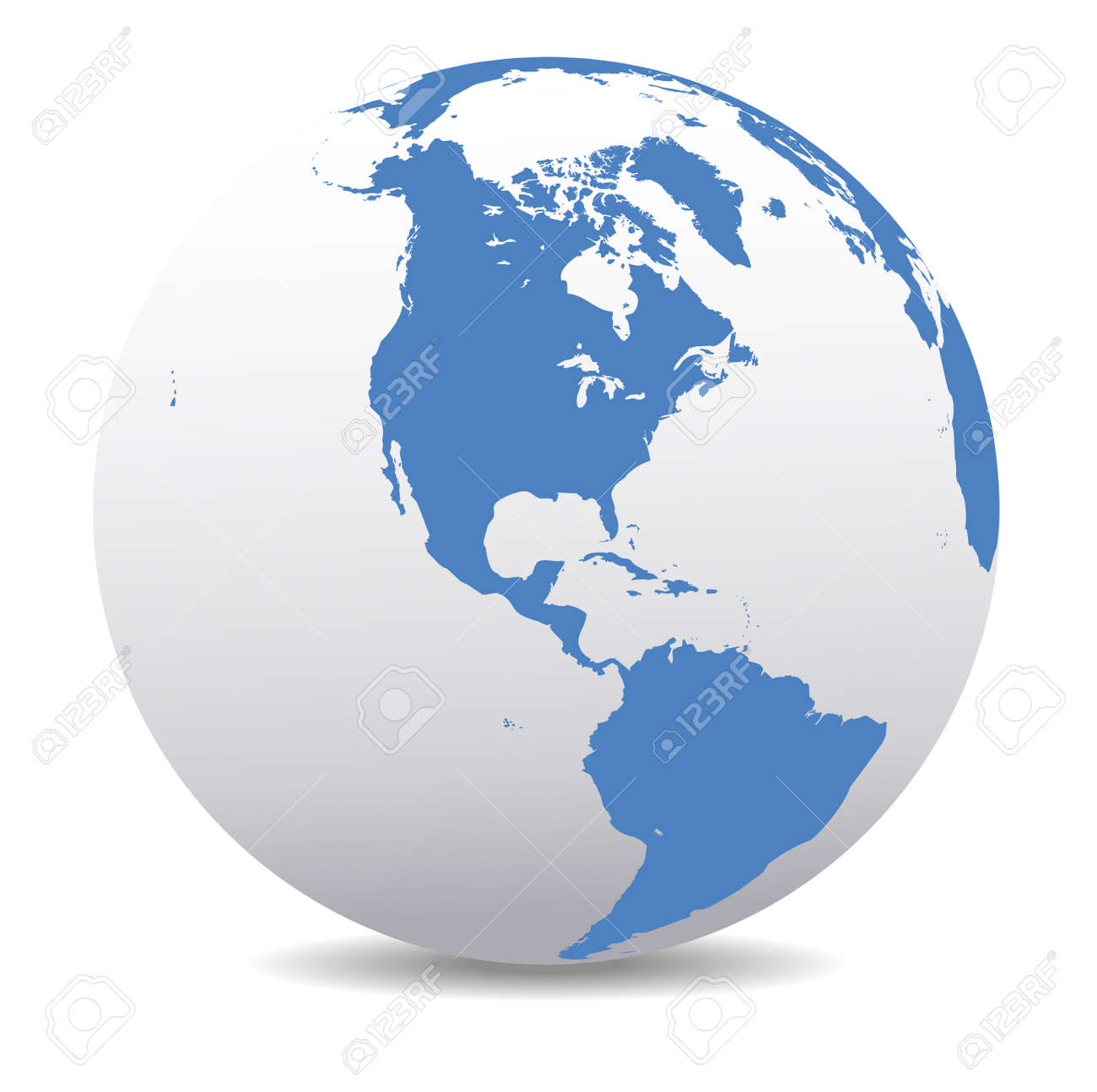 North and South America Global World - 33288847