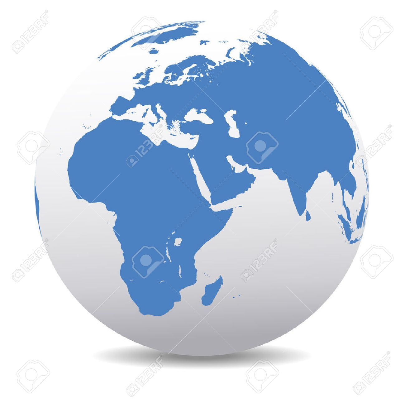 Africa, Middle East, Arabia and India Global World - 33345737