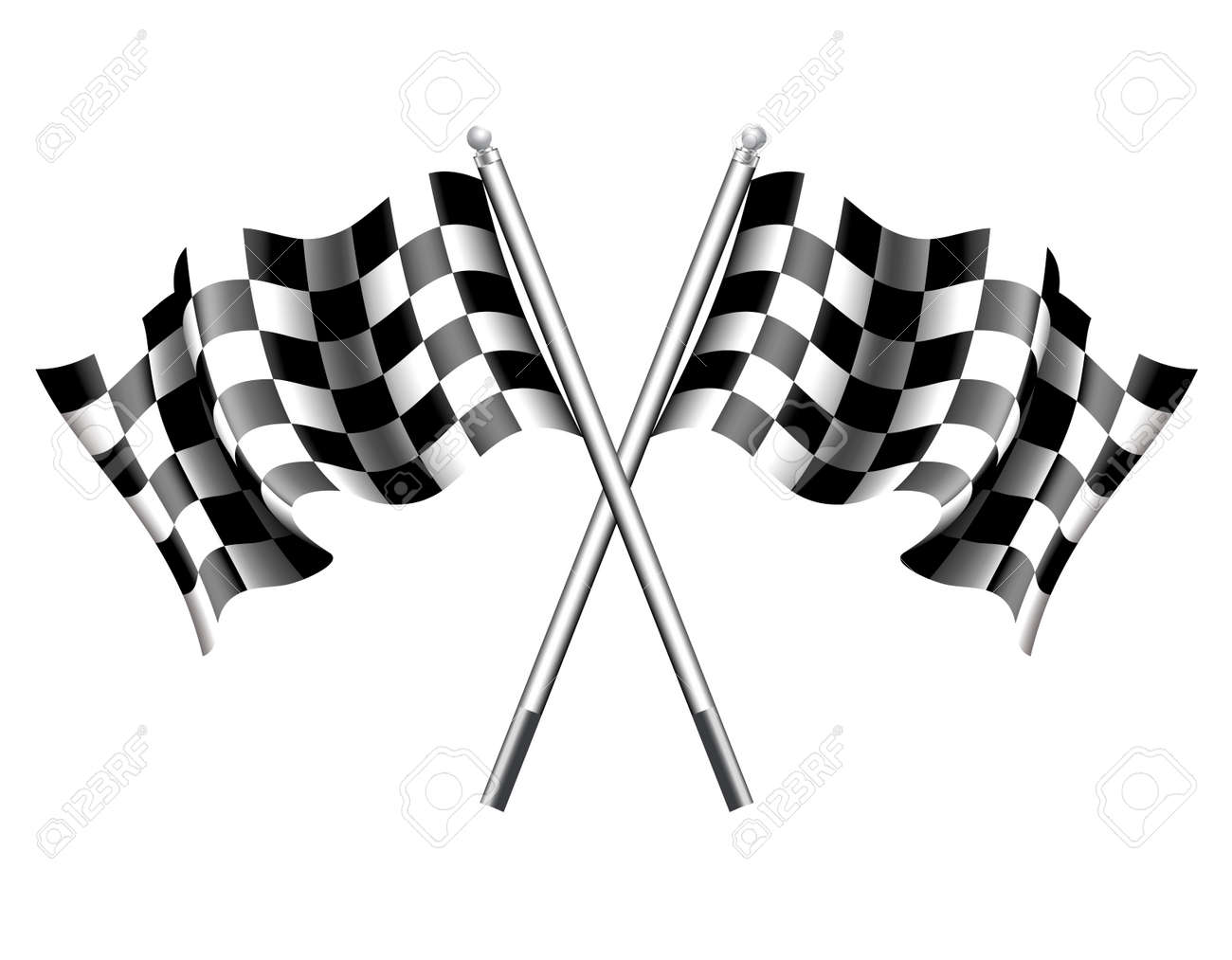 Chequered Race Flag - 34155286