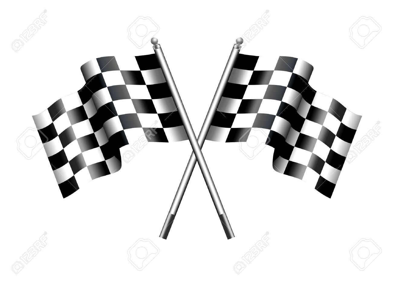 Chequered checkered flags motor racing stock vector 35177111