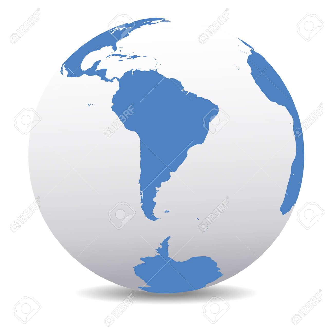 South America and South Pole Global World - 35579138