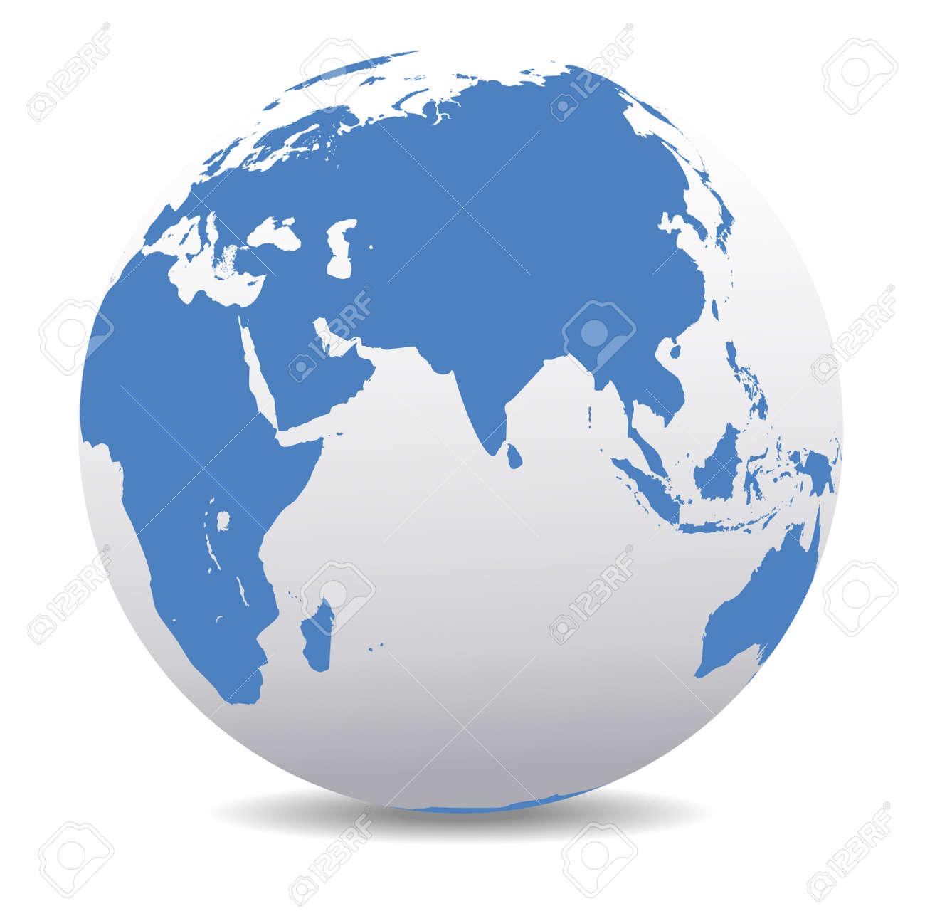 India, Africa, China, Indian Ocean, Global World - 35857208
