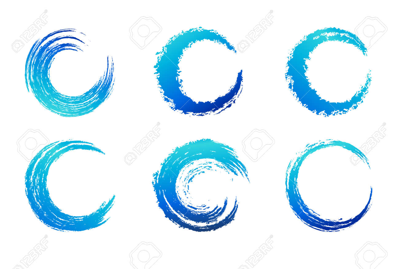 graphic brush swirls circular brush stroke royalty free cliparts