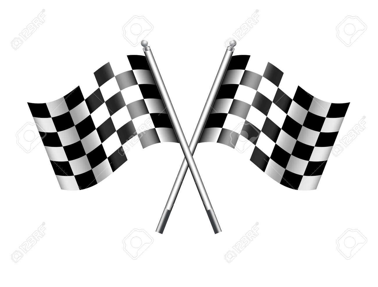Checkered Chequered Flags Finish Flag - 40699167