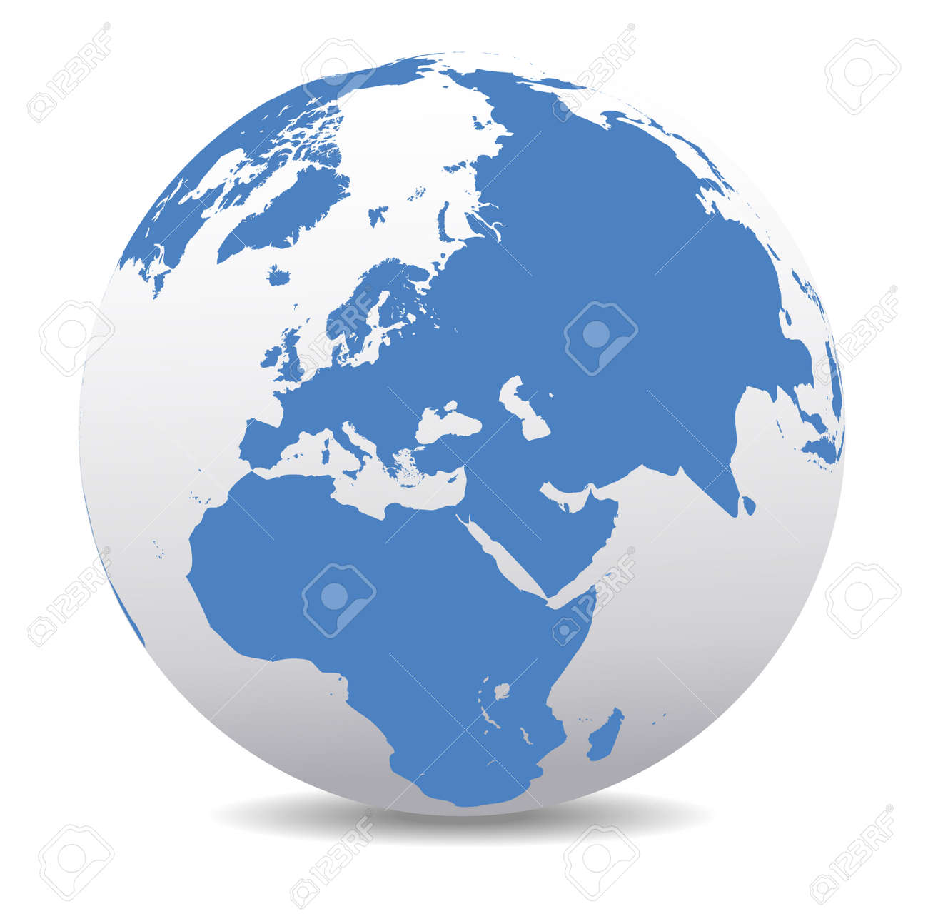 Middle East Russia Europe And Africa Global World Royalty Free