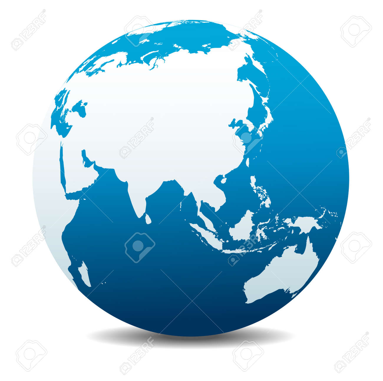 China and Asia, Global World - 48970107