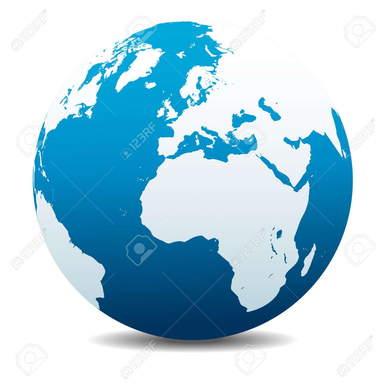 Europe and Africa, Global World - 48970281