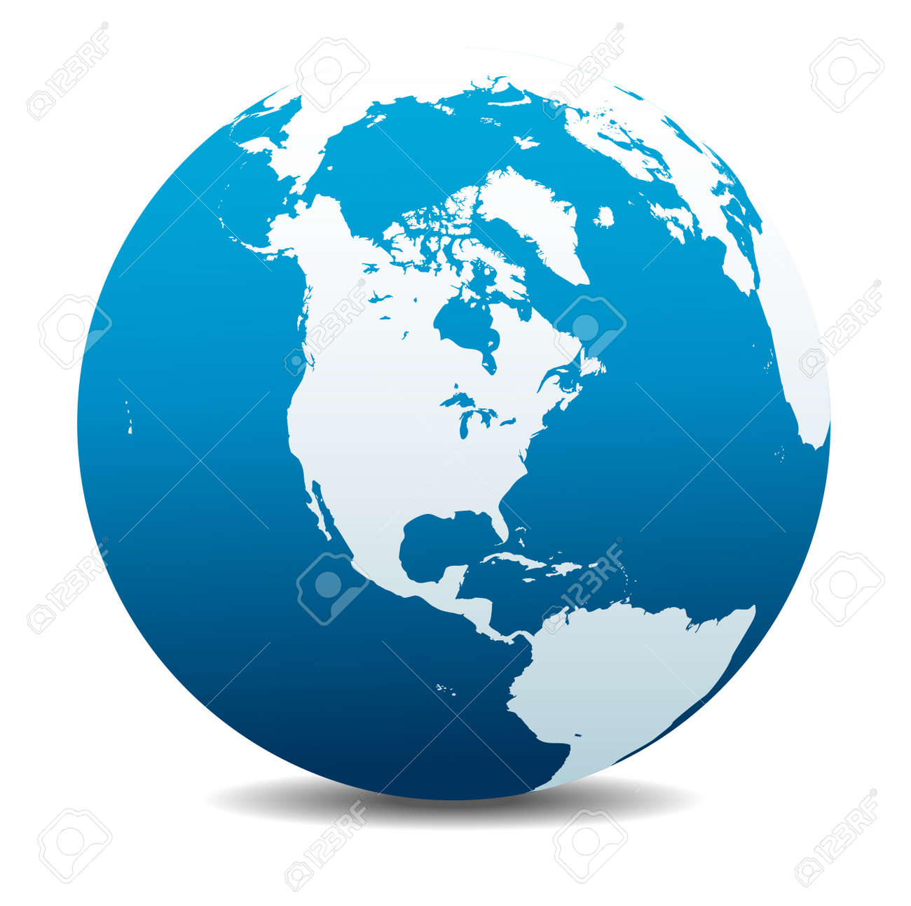 North, South, and Central AMERICA, Global World - 48970297
