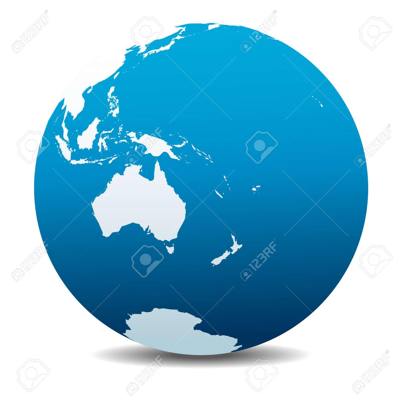 Australia and New Zealand, Global World - 49597277