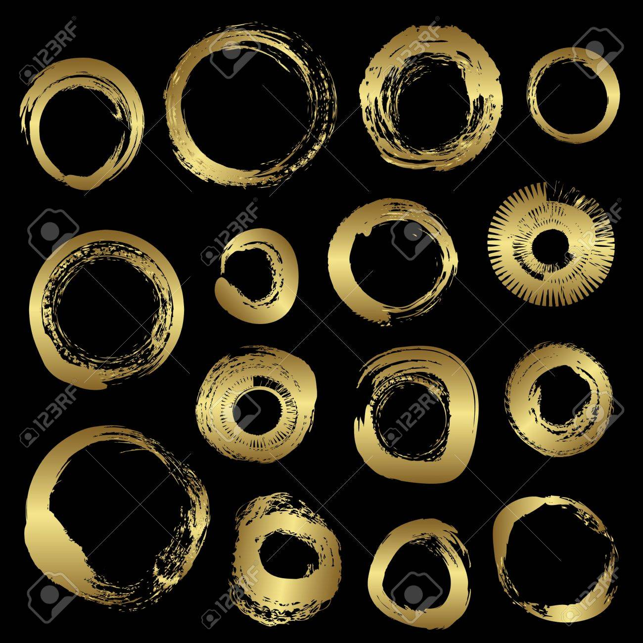 Gold grunge rings vector Stock Vector - 13991628