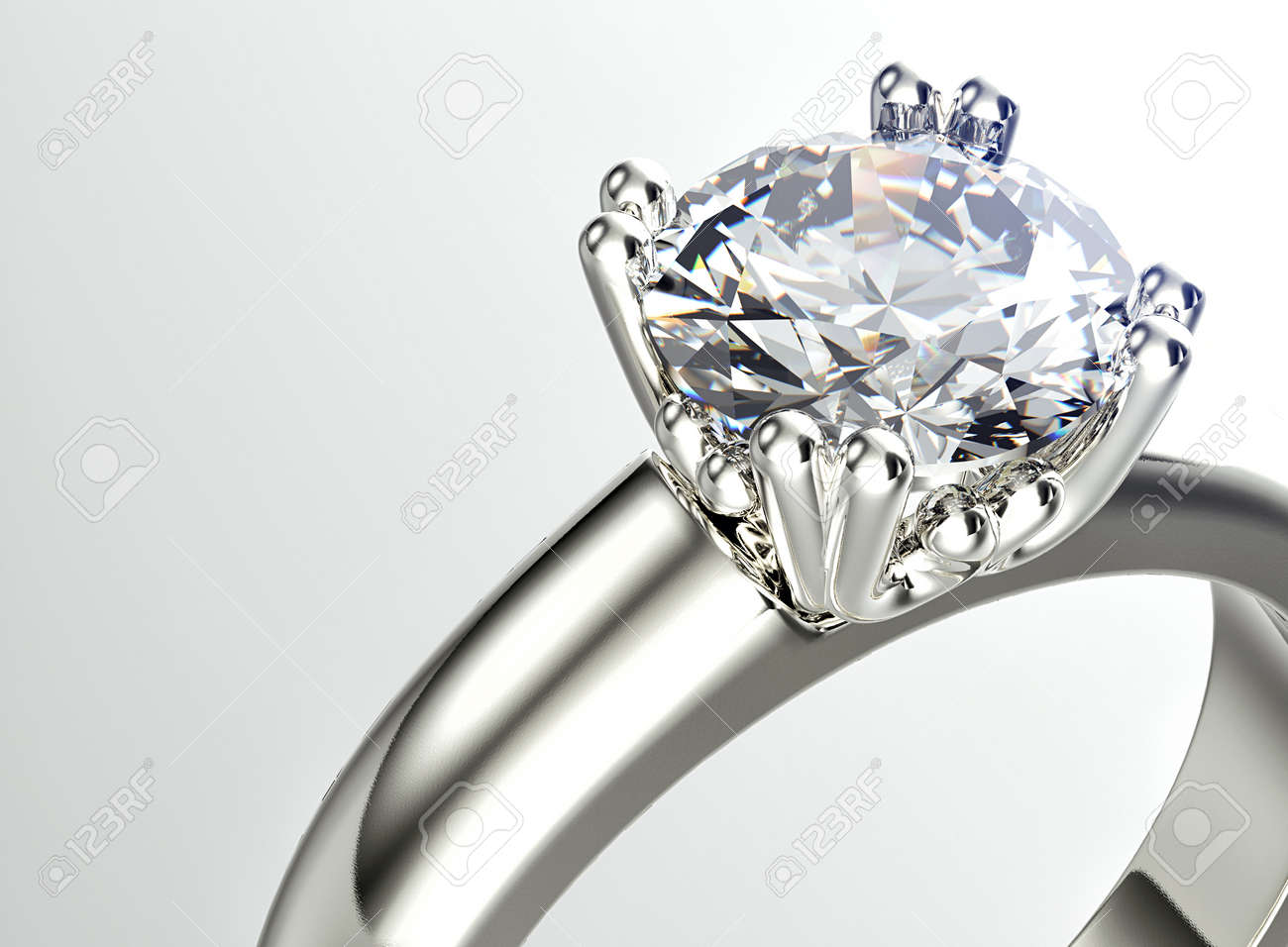Golden Ring With Diamond. Jewelry Background Stock Photo, Picture ...