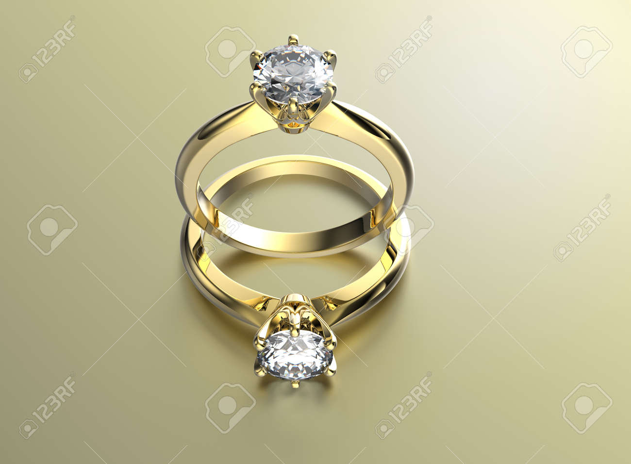 hd rings stock wedding realistic golden video animation footage engagement