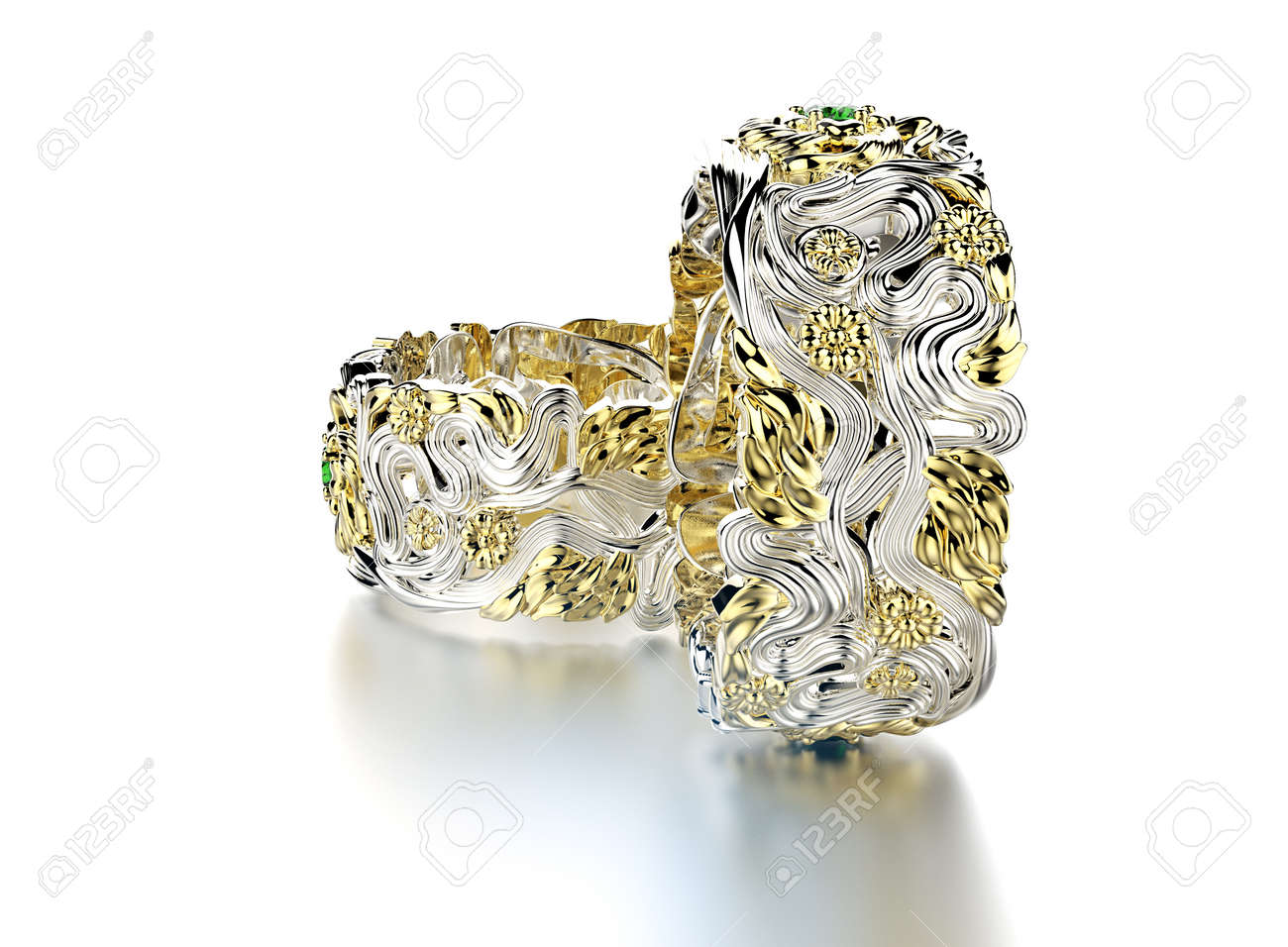 wedding realistic video rings engagement hd footage stock golden animation