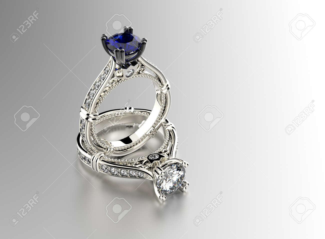 Diamanten schmuck  Ring Mit Diamanten. Schmuck Hintergrund Lizenzfreie Fotos, Bilder ...
