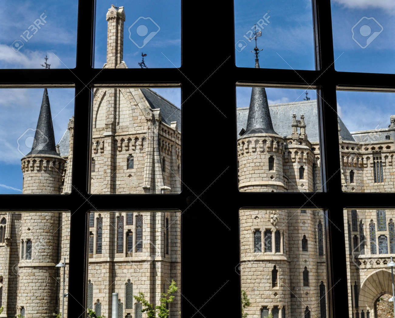 The Episcopal Palace Of Astorga Is A Building Designed By Spanish