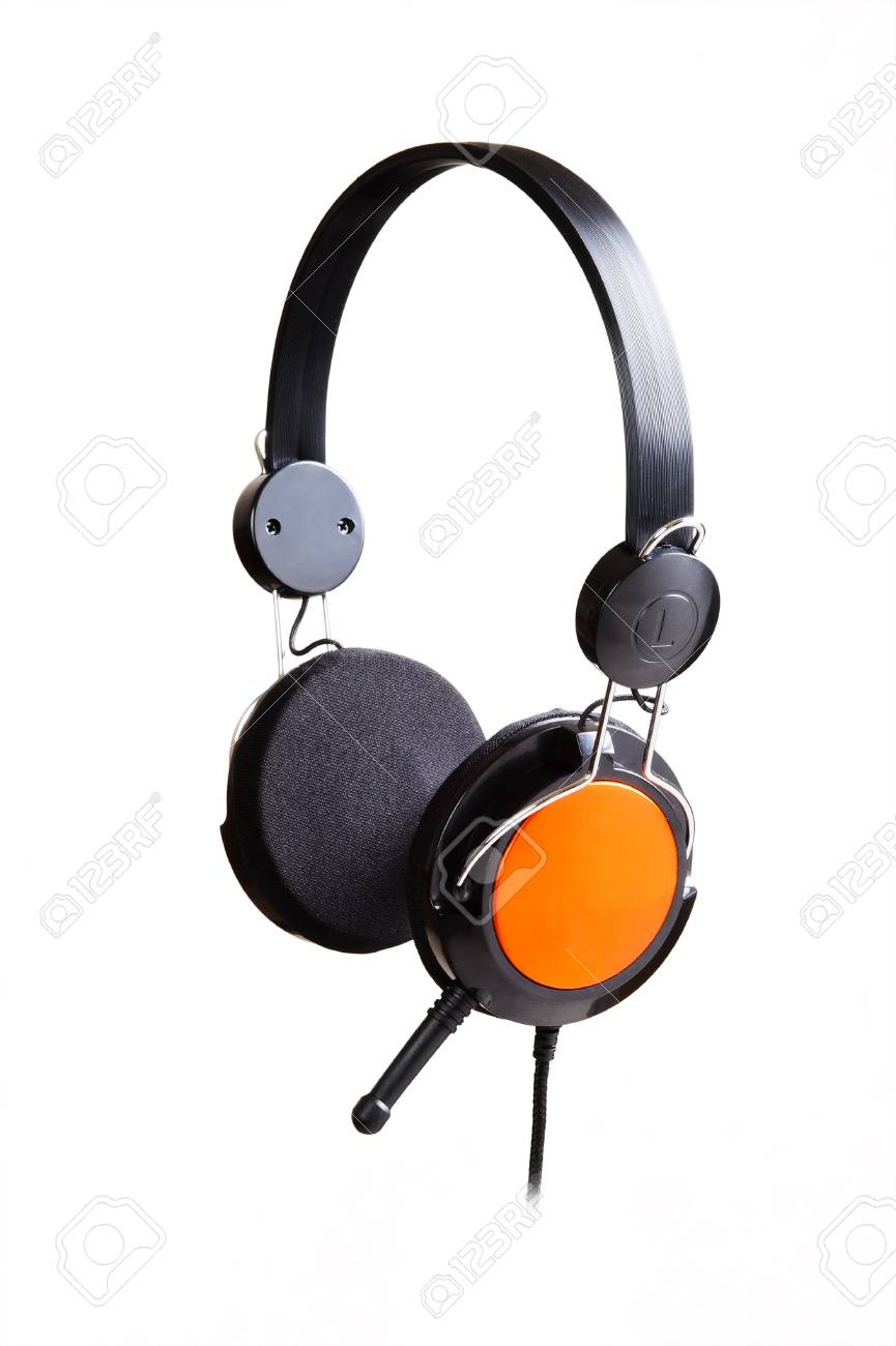Headphones isolated on a white background Stock Photo - 10439716