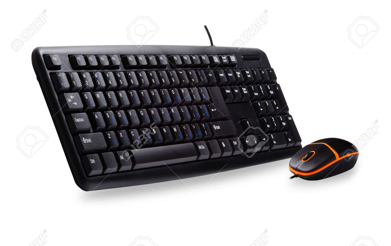 Computer keyboard and mouse isolated on white background Stock Photo - 10439721
