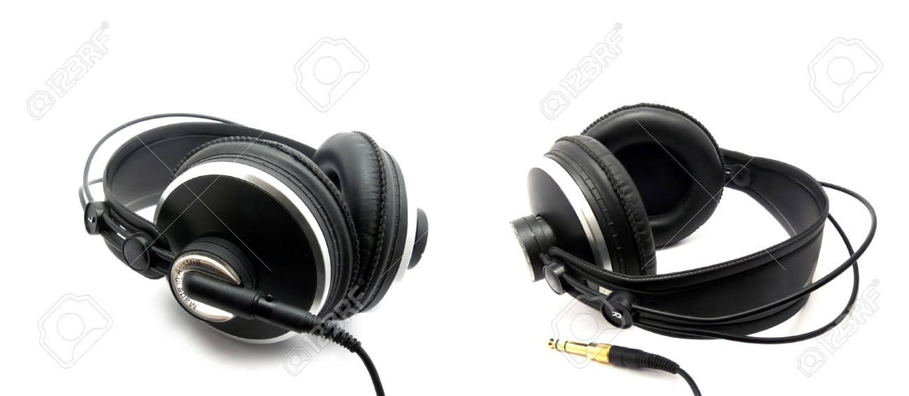 Professional headphones for monitoring audio Stock Photo - 6445809