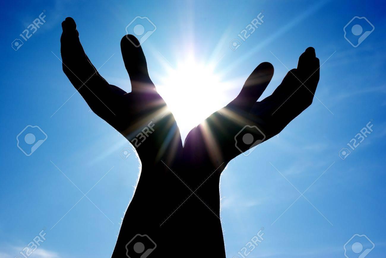 Sun in hands. Conceptual design. Stock Photo - 7555697