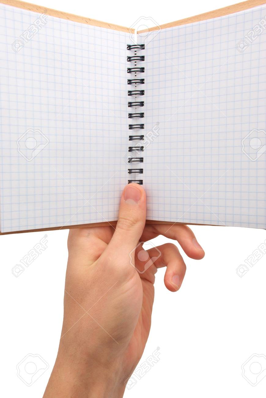 Note pad in hand. Element of design. Stock Photo - 7576710