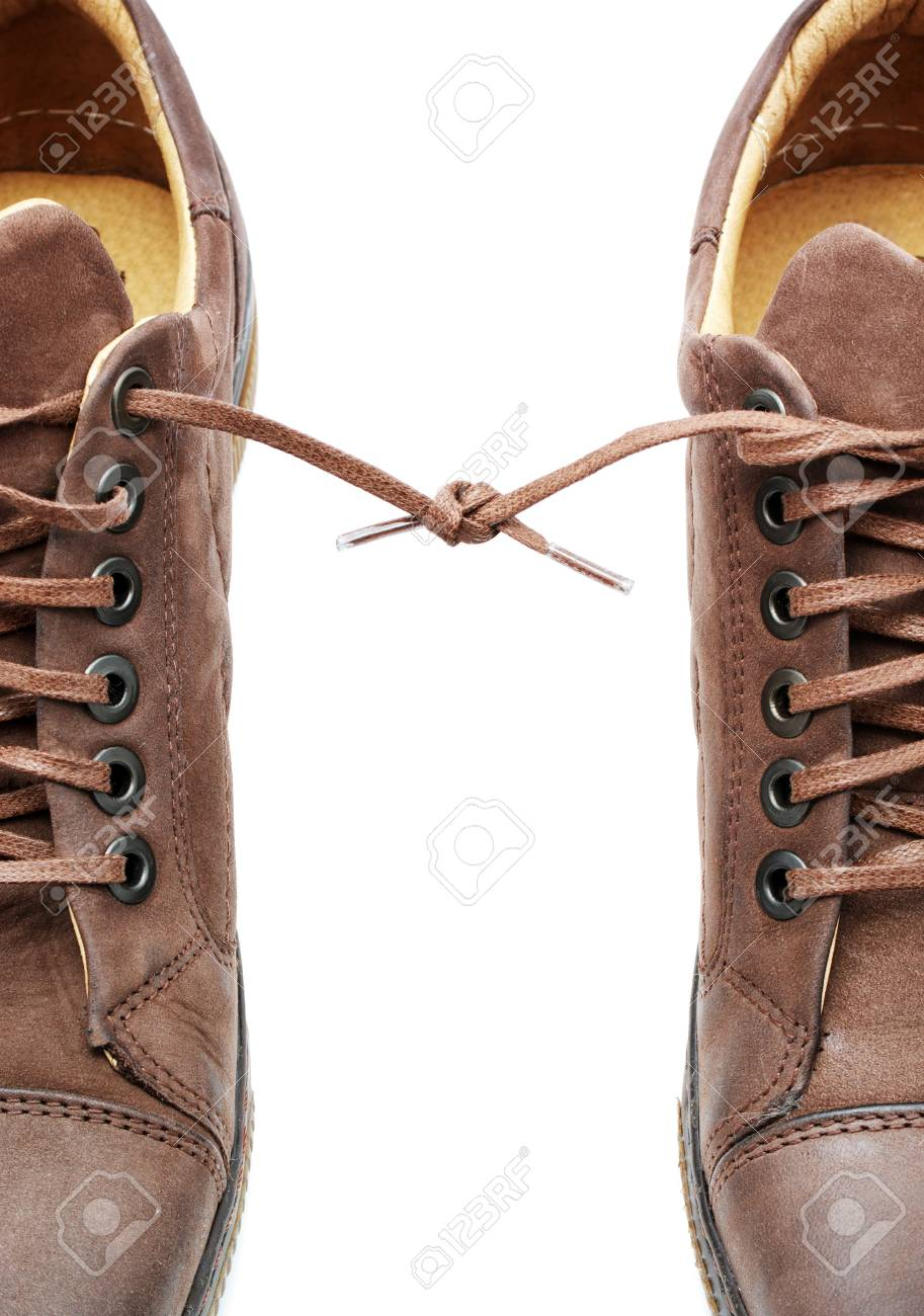 Pair of shoes bound together. Element of design. Stock Photo - 7608095