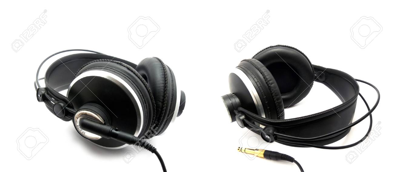 Professional headphones for monitoring audio Stock Photo - 8245145