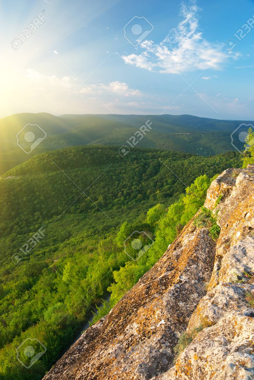 Morning mountain landscape. Composition of nature. Stock Photo - 8600249