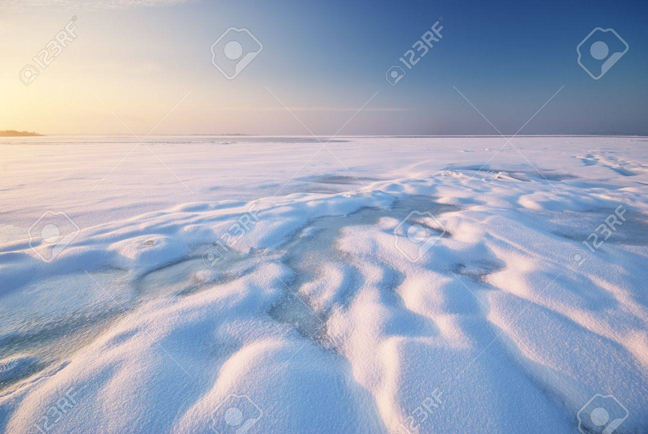 Winter landscape. Composition of nature. Stock Photo - 14040386