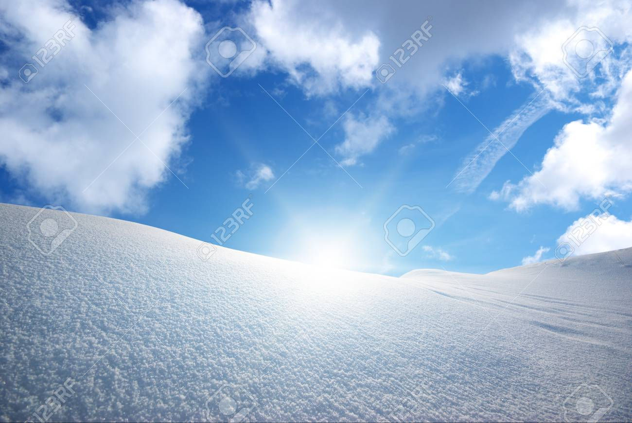 Snow hills. Composition of nature. Stock Photo - 14040420