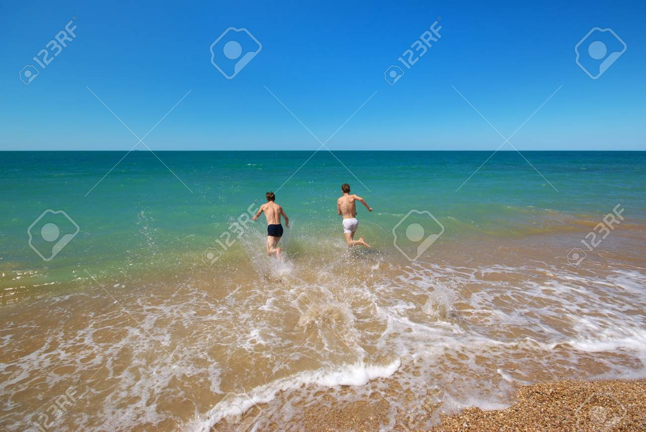 Swim in sea. Emotional scene. Stock Photo - 14747497