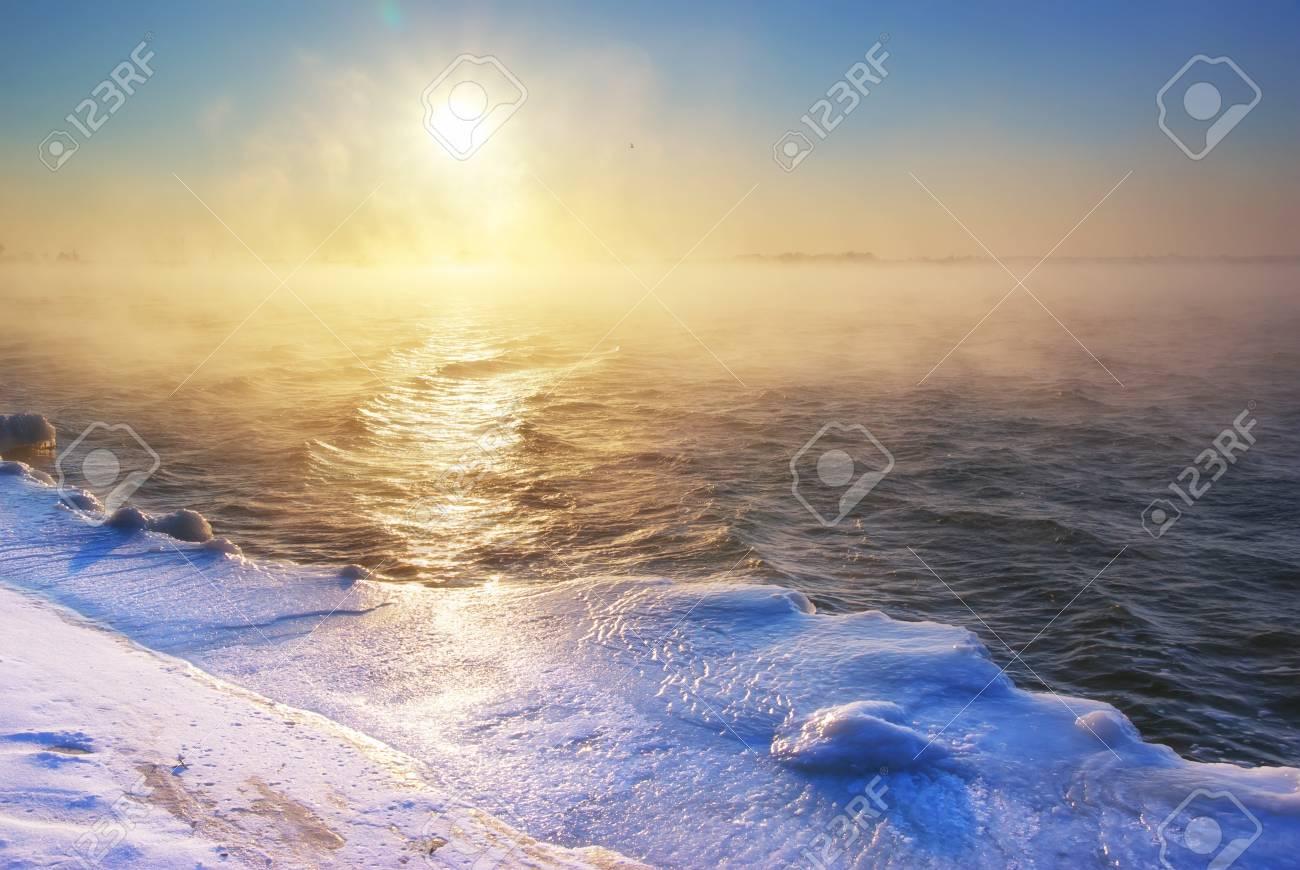 Winter landscape. Composition of nature. Stock Photo - 17324591