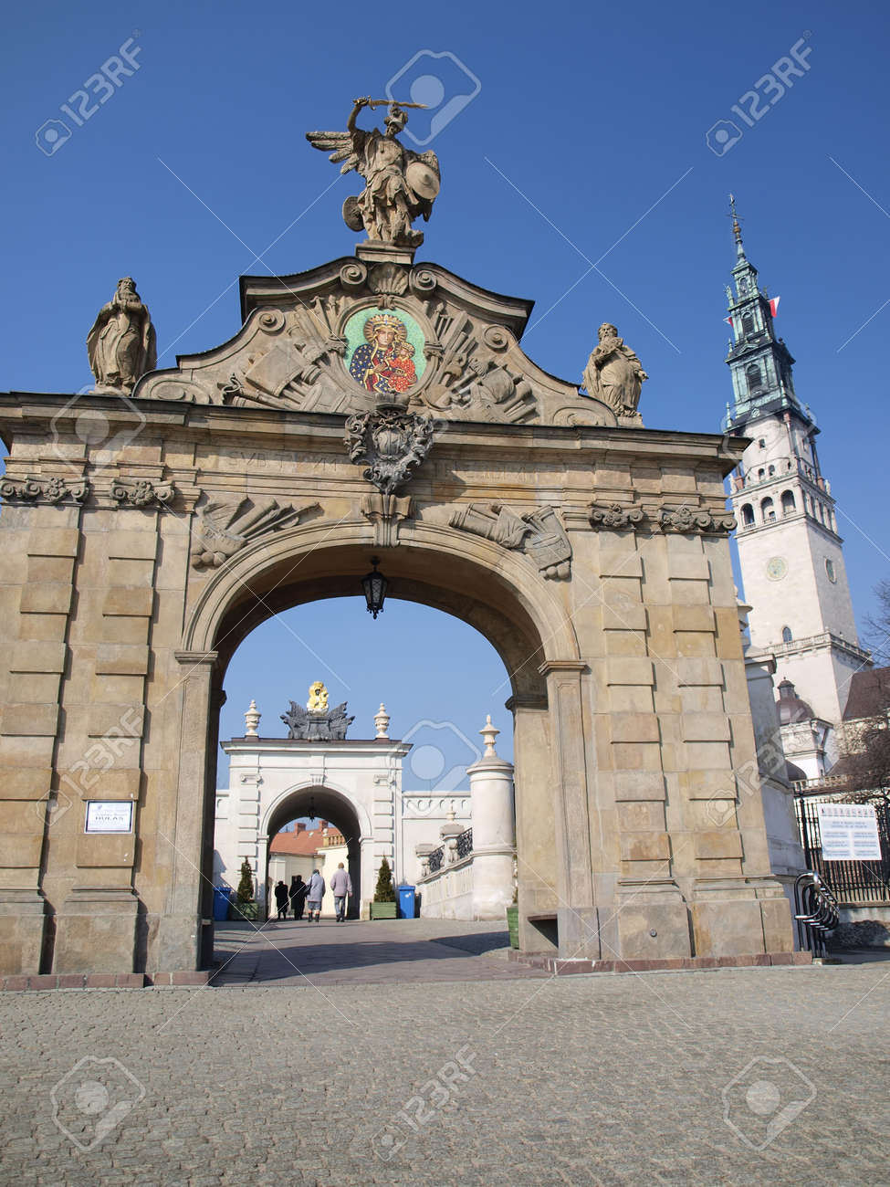The gate to the shrine of Our Lady Queen of Polish Jasna Gora in Czestochowa - 9090648