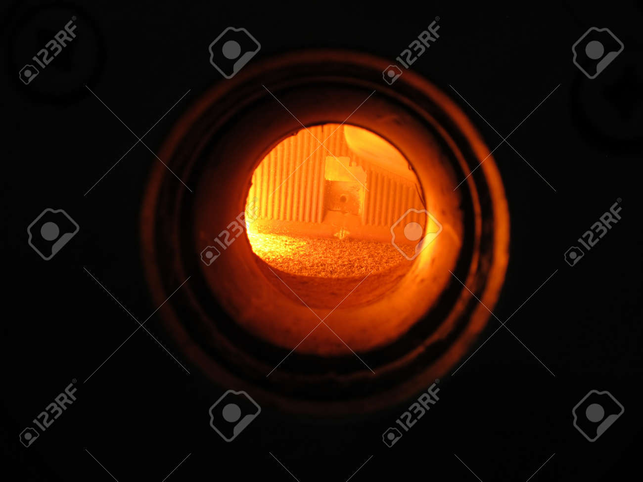 interior view grate combustion chamber through a window Stock Photo - 16891435
