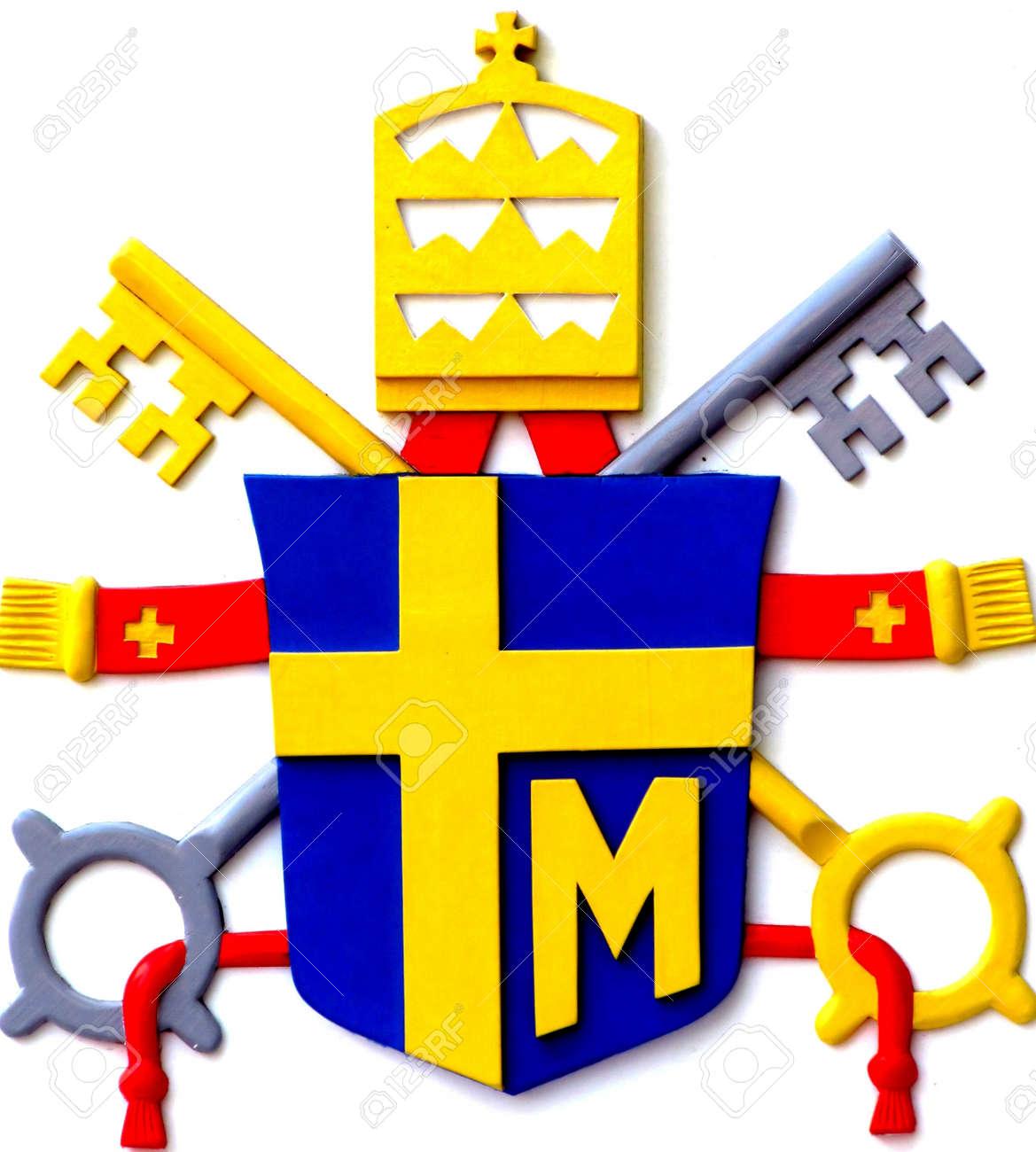 Pope john paul iis coat of arms stock photo picture and royalty pope john paul iis coat of arms stock photo 19993900 buycottarizona Choice Image