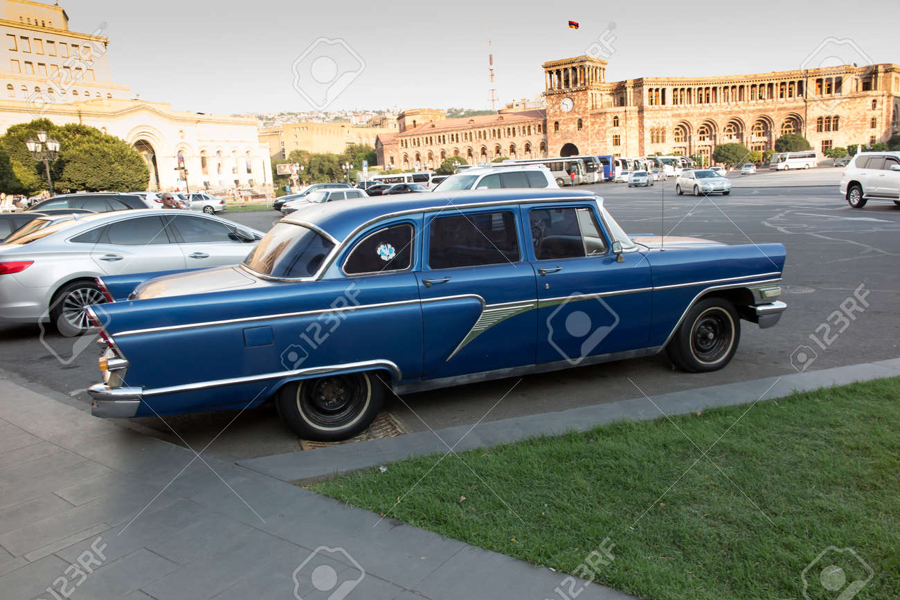Yerevan, Armenia - September 17, 2017: Luxury, Vintage Car \