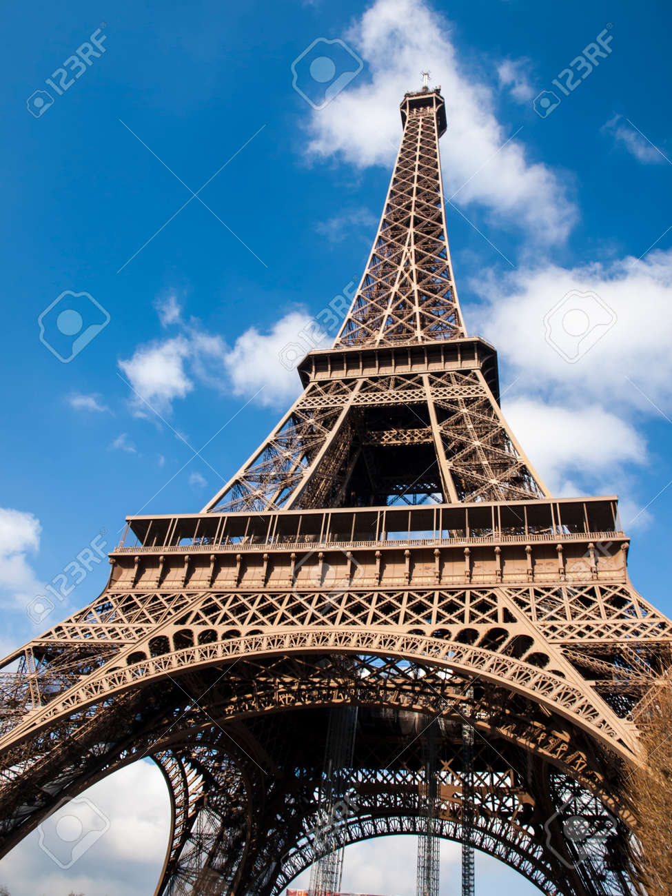 Eiffel Tower in the French capital of Paris - 125163346