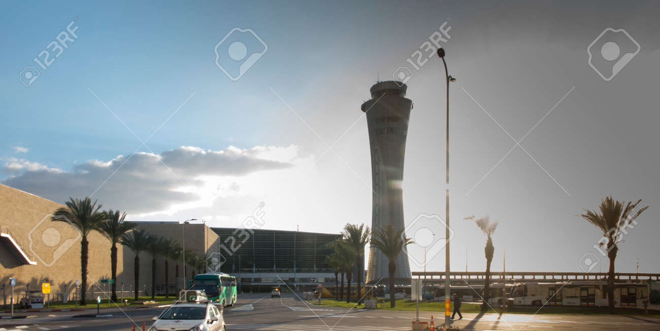 Tower at Tel Aviv airport (TLV) in Israel - 157894955