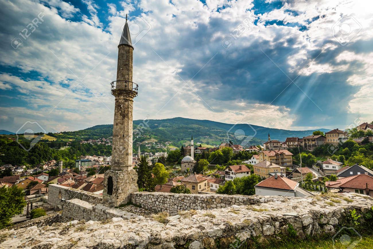 トラヴニク、ボスニアの要塞のミ...